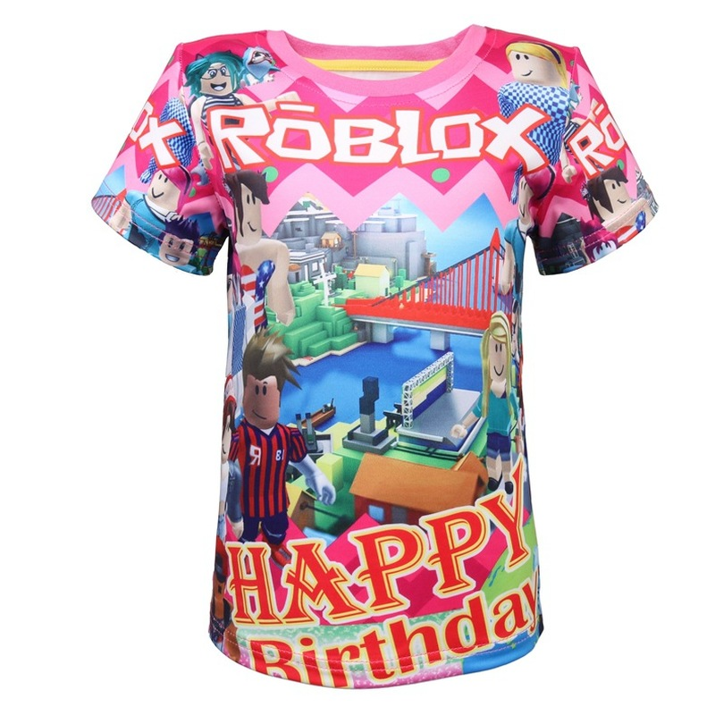 Boys' Clothing (2-16 Years) Kids Roblox Cartoon Boys Girls Christmas T Shirt Tshirt Xmas Game 7 To Enjoy High Reputation In The International Market