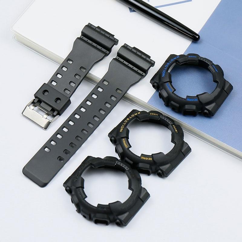 Natural Resin Men's Watch Accessories For Casio Strap G-SHOCK GA-110 GA-100 GA-120 Matte Waterproof Ladies Strap