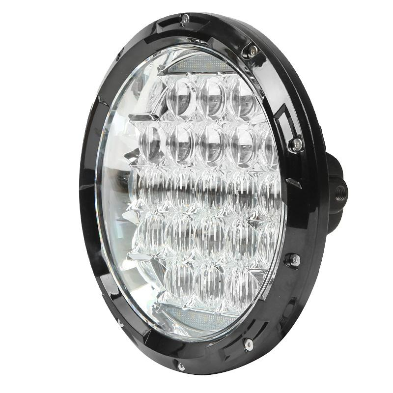 Black 70W 7  Sealed Beam Round Motorcycle Headlight White LED Daymaker Projector Driving Light For Harley Davidson Road King-in Headlights from Automobiles ...  sc 1 st  AliExpress.com & Black 70W 7