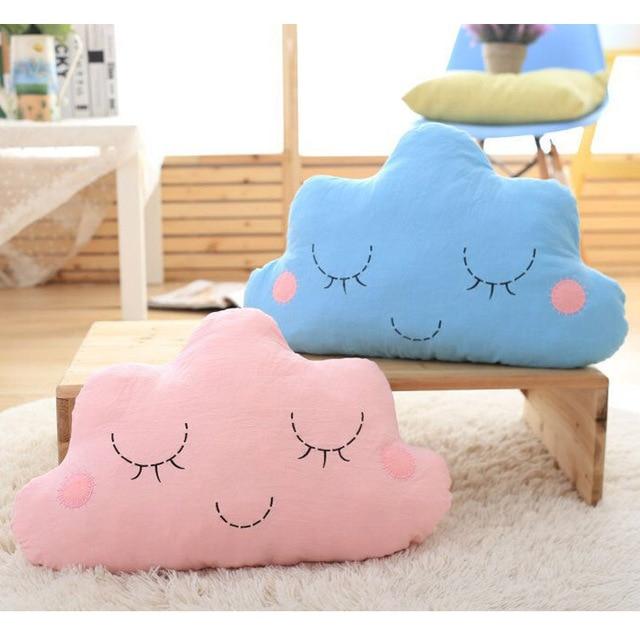 Cute 30 50cm Smiling Cloud Pillows Cushions Sofa Throw Pillow Couch Soft Cotton Stuffed Toys