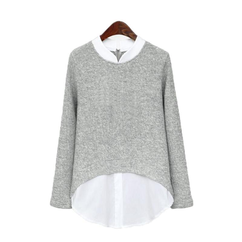 Spring Autumn Kimono Tunics Women's Blouses Ladies Office Long Sleeve Patchwork Body Shirts Plus Size 4XL 5XL Women Tops Blusas