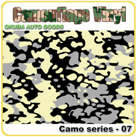 FedEx Free Shipping Camouflage Sticker For Cars Wrapping Vinyl With Air Bubble Free Black&White Sheet Foil size:1.52*30m/roll