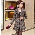 Женщин Весной 2017 новый 30-40-50 лет Весной и зимой среднего возраста мать установлены шерстяные ветровка куртка