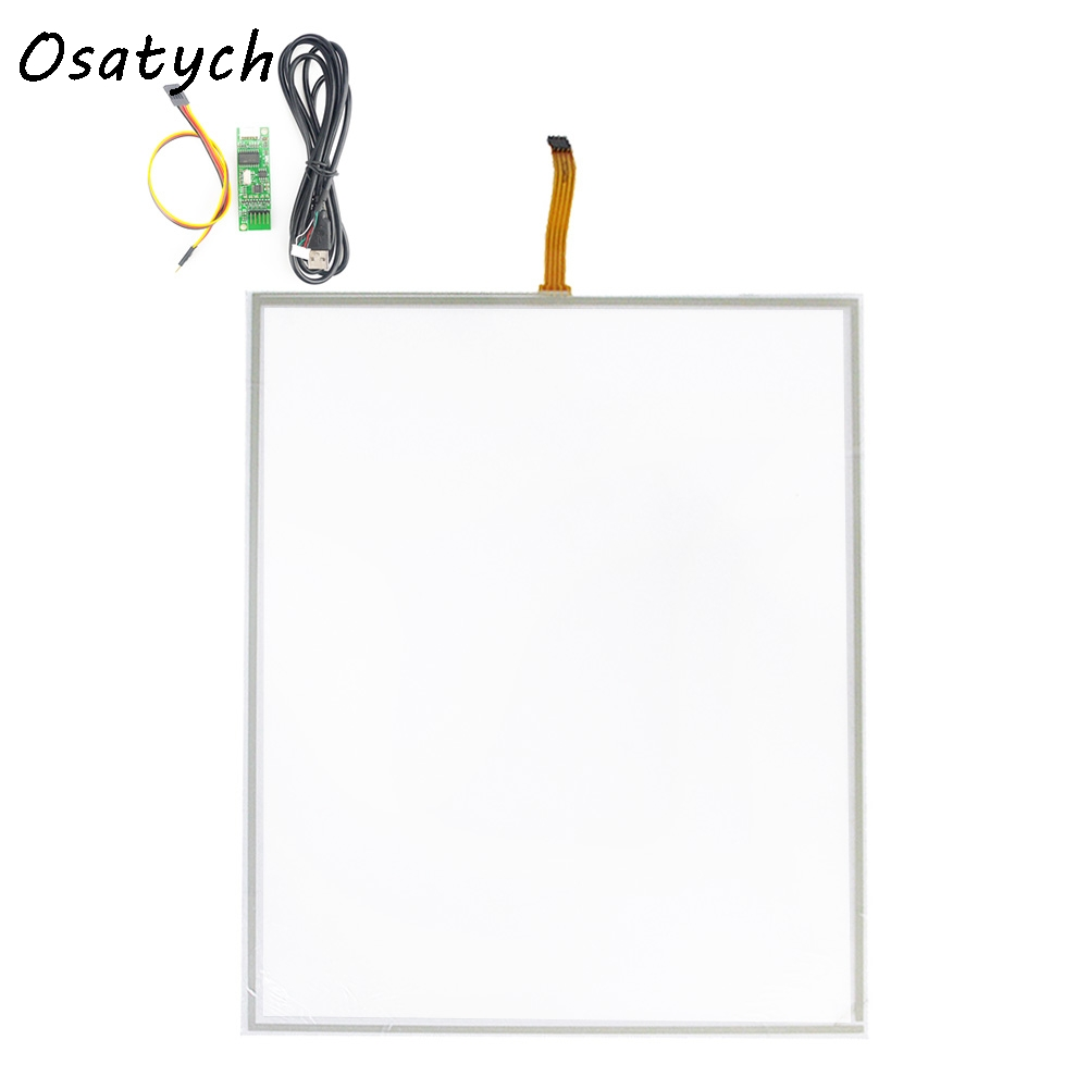 19 Inch 323mmx396mm 4 Wire Resistive Touch Screen Panel with USB Controller Kit