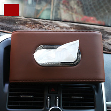 цена на lsrtw2017 car styling leather tissue box for toyota sienna alphard vellfire corolla rav4 highlander prado land cruiser