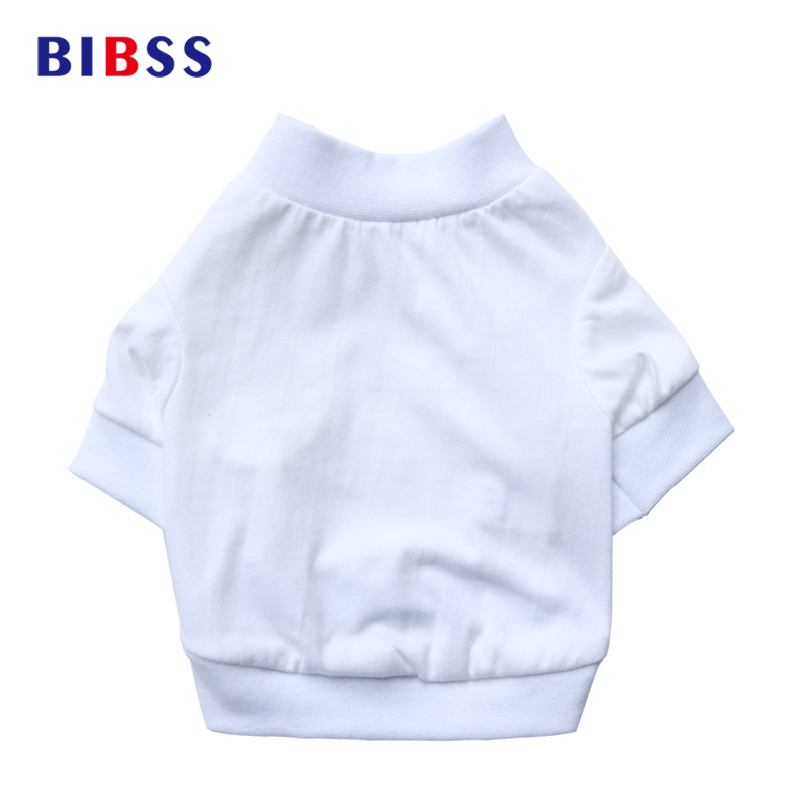 Summer Pure white cotton Dog T-shirts Pet Dog Clothes for Small Puppy Sport Cat Vest Outfit Spring Roupas de Cachorro