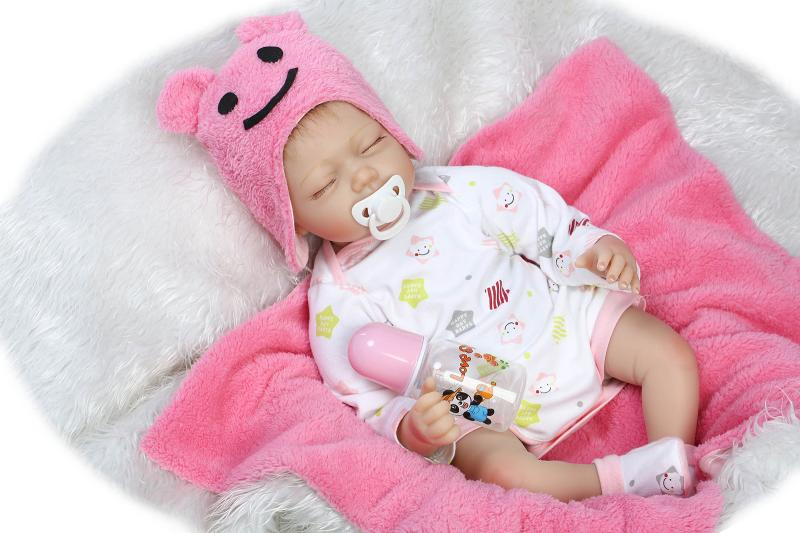 Pursue 22/55cm Lifelike Reborn Dolls Girl Toy Realistic Education American Baby Reborn Doll for Kids Gift  Christmas Doll Pink lego education 9689 простые механизмы
