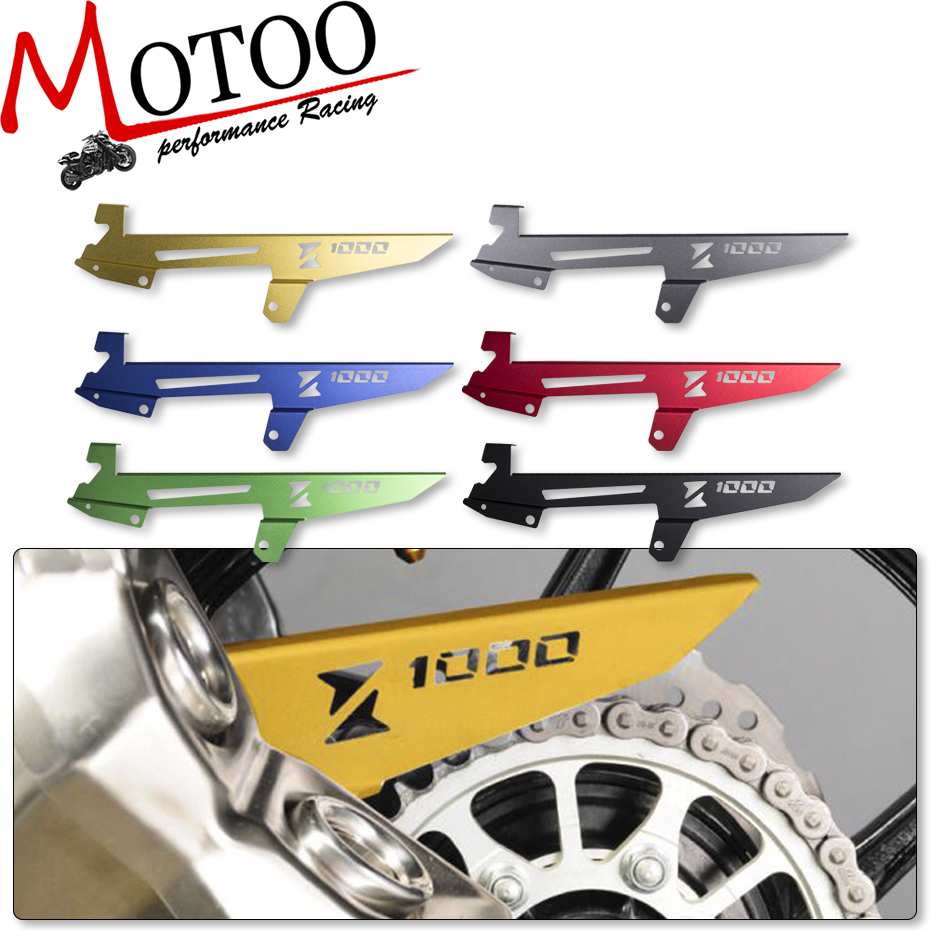 Motoo - For Kawasaki Z1000 2010-2016 Motorcycle CNC Aluminum Chain Protector Guard Cover Decoration bjmoto cnc aluminum motorbike accessaries motorcycle engine guard cover pad for kawasaki z1000 r 2010 2011 2012