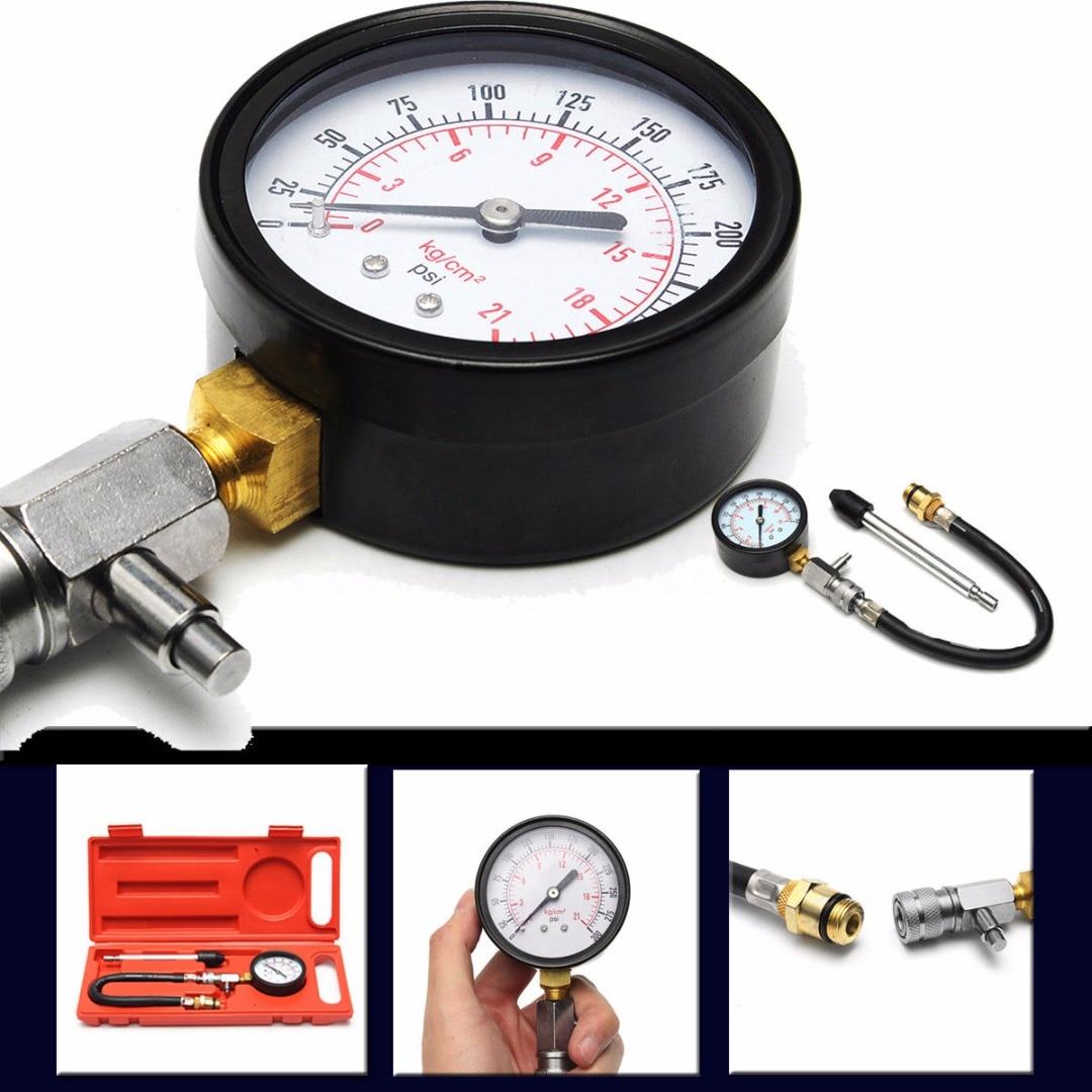 Alta calidad 1 Unidades g324 motocicleta coche cilindro Motores presión compresión probador 0-300 PS auto Herramientas de diagnóstico