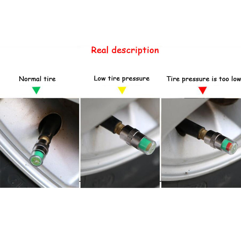 4pcs Tire Pressure Monitoring Car Tire Pressure Detection Cap Diagnostic Tool Car Tire Pressure Gauge Auto products Car Accessor in Tire Pressure Monitor Systems from Automobiles Motorcycles