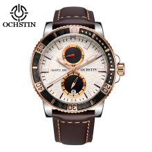 2017 Luxury Ochstin Men Sport Watches Genuine Leather Band Men s Wristwatch Chronograph Watch Mens Top