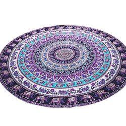 Mutifunction Hot Hippie Indian Mandala Beach Throw Towel Round Mat Boho Tapestry Yoga Mat Home textile