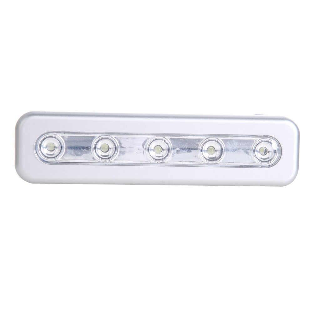 5-LED Lange Lebensdauer Selbst Stick-dünne Kabinett Lichter Für Schrank Licht Wein Bier Fällen Push Schrank Nachtlichter