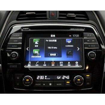 Para Nissan Maxima 2019 2018 2017 2016 8 pulgadas Protector de pantalla de navegación de coche HD película de vidrio templado Auto Interior accesorios