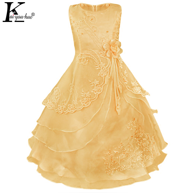 Girls Dress Party Summer Princess Dress Formal Prom Kids Dresses For Girls Bridesmaid Wedding Dress 4 5 6 7 8 9 10 11 12 Years