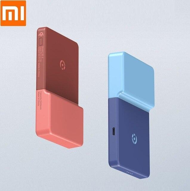 Xiaomi Power a posté un autocollant de charge sans fil Qi batterie externe sans fil chargeant la machine à coller pour le téléphone Apple Xiaomi Samsung