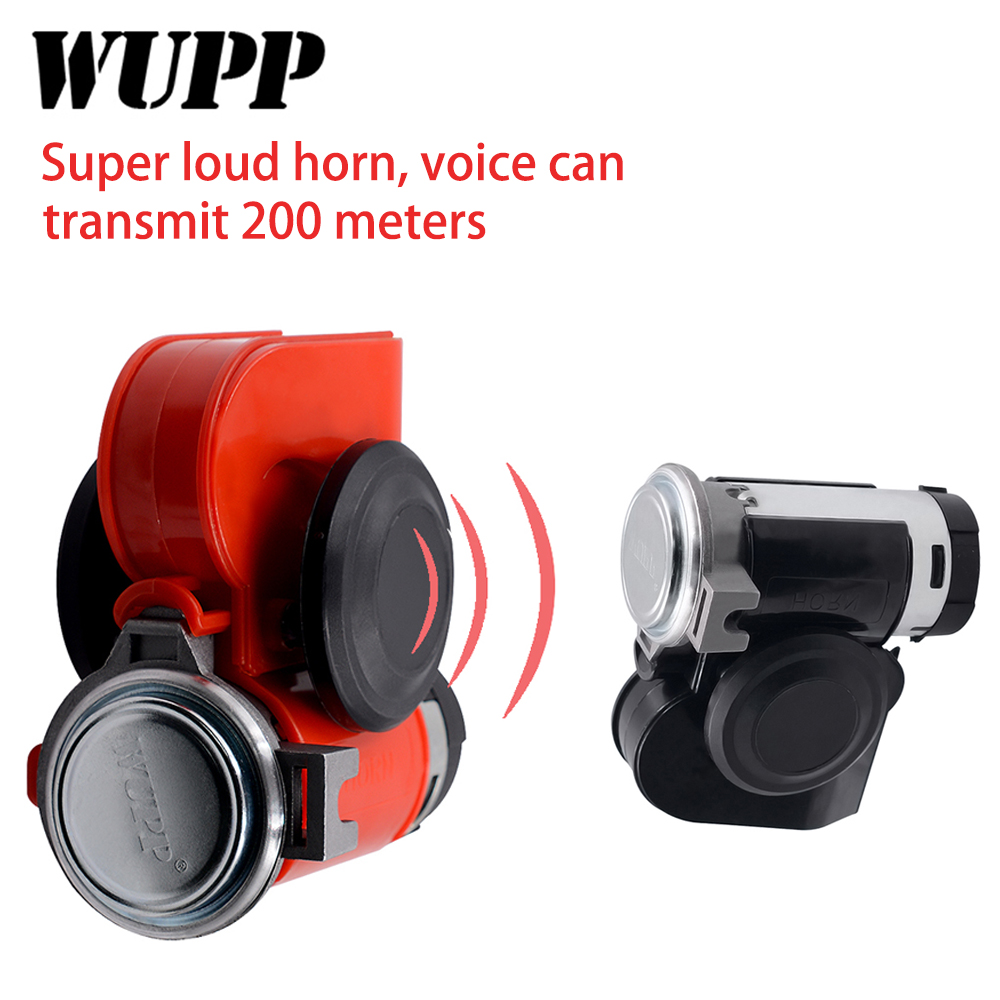 WUPP 12 V Super Loud Car Motorcycle Truck  Horns Truck Yacht Boat Compact Dual Tone Electric Pump Air Loud Motorbike HornWUPP 12 V Super Loud Car Motorcycle Truck  Horns Truck Yacht Boat Compact Dual Tone Electric Pump Air Loud Motorbike Horn