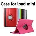 Высокое Качество! 360 Поворот Кожа Стенд Флип Чехол Для Apple Ipad mini & mini 2 3 Крышка Бесплатно Shipping13 цвета