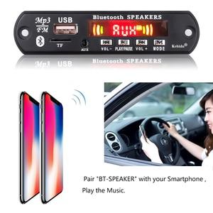 Image 5 - Kebidu Handsfree MP3 Speler Decoder Boord 5V 12V Bluetooth 5.0 6W Versterker Auto Fm Radio module Ondersteuning Fm Tf Usb Aux Recorders