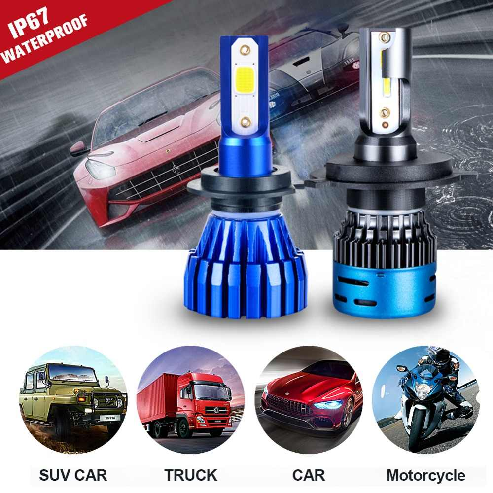 2PCS Mini H4 H7 LED Car Headlight Kit 50W 10000LM/Set H1 H11 9005 HB3 9006 HB4 H8 6000K 4300K 8000K 3000K Bulbs Car Accessories