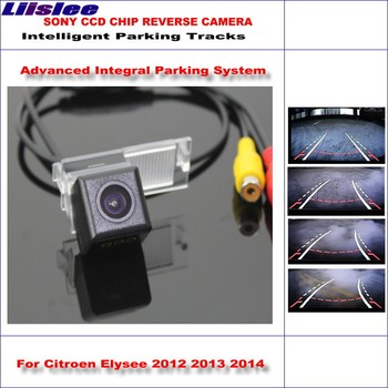 Liislee 860 * 576 Pixels Back Up Camera For Citroen Elysee 2012 2013 2014 Rearview Parking / Dynamic Guidance Tragectory