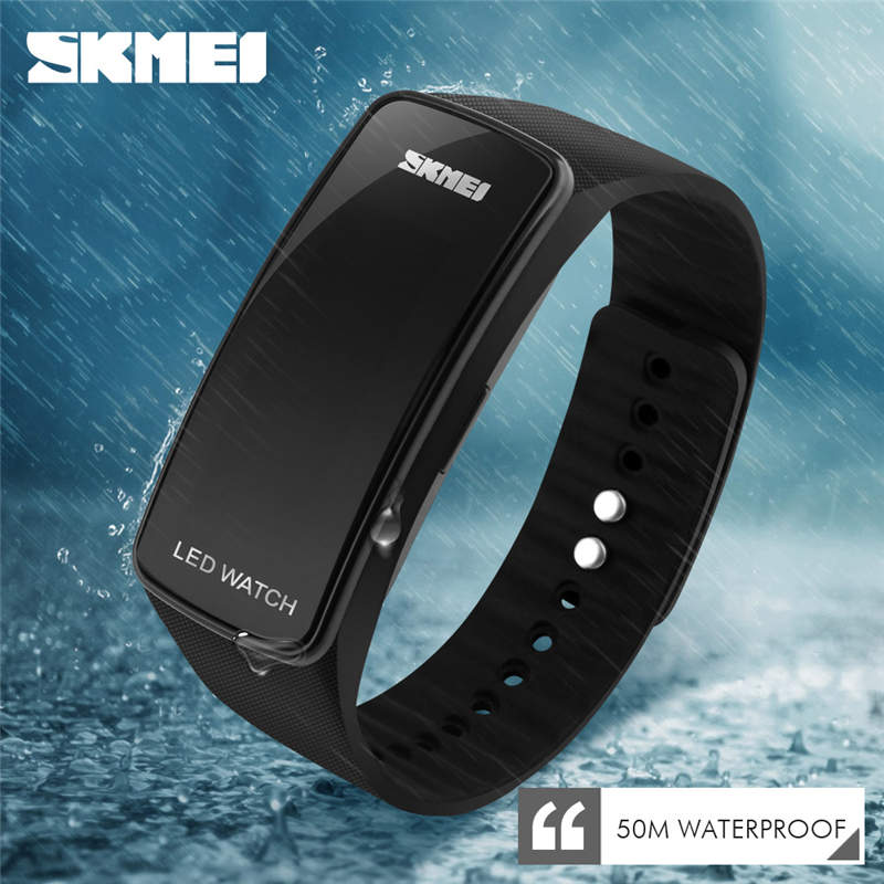 SKMEI Brand LED Bracelet Watch Sports Men's Watches Waterproof Calendar Student Wristband Digital Children's Wristwatch Relogio