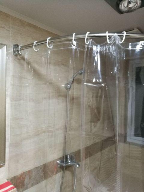 Multipurpose Aangepaste dikker douchegordijn voor badkamer 180x180 cm bad  gordijnen Plastic Milieuvriendelijke Waterdichte Gordijn