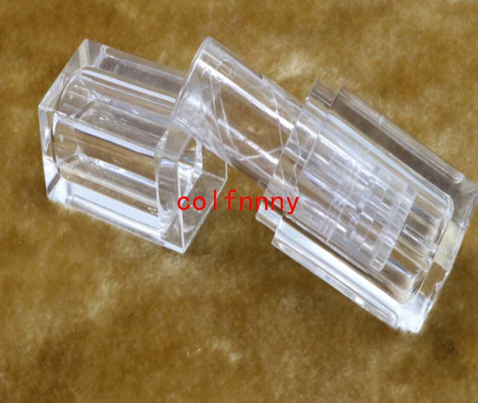 300ชิ้น/ล็อตการจัดส่งสินค้าtransparentsเพียงพอกระสอบโค้งมนคุณภาพสูงหลอดลิปสติก,เปล่าlip b almคอนเทนเนอร์