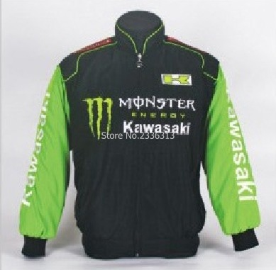 Chaquetas moto kawasaki verde