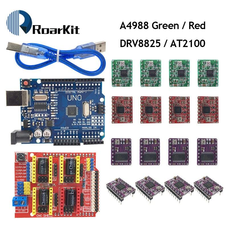 4x Driver DRV8825 CNC Shield V3 Expansion Board Arduino Engraver 3D Printer GRBL