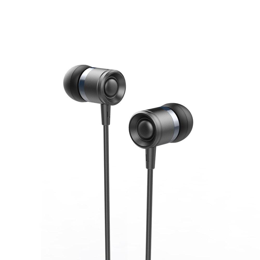 Wired Metal música auricular estéreo Bass auriculares sonido preciso 3,5mm auricular colorido con HD Mic auriculares para Samsung/ xiaomi
