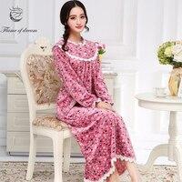 Long Sleepwear M 2xl Bust 100 120cm Plus Size Nightdress Nuisette Femme Long Nightgown 974