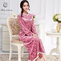 Long Sleepwear M-2xl Bust 100-120cm Plus Size Nightdress Nuisette Femme Long Nightgown 974
