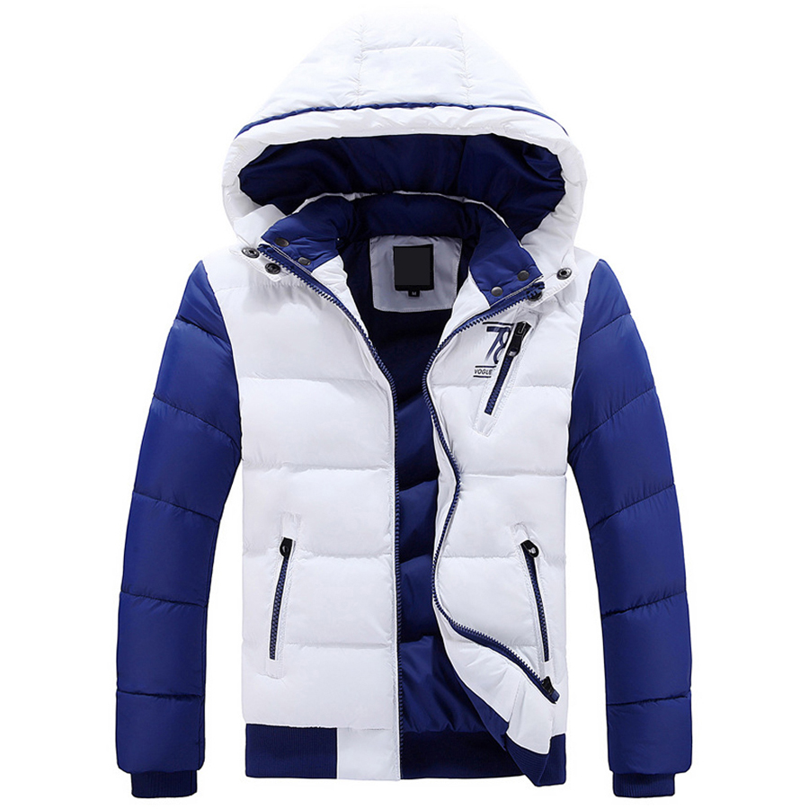 Dropshipping High Quality Winter Jacket Men Hat Detachable Cotton-Padded Outwear Mens Coats Jackets Slim Warm Parka Men Clothes