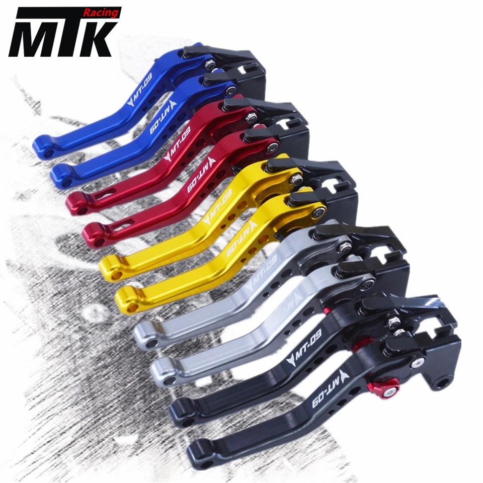 MTKRACING For YAMAHA FZ-09/MT-09 2014-2016 CNC Short Brake Clutch Levers motorcycle mtkracing cnc short brake clutch levers for yamaha fz1 fazer fz6r fz8 xj6 fz6 mt 07 mt 09 fz 09 xsr700 xsr900