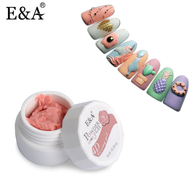 EA 24 Warna Modeling Gel Nail Polish Seni Reka bentuk 3D UV Gelpolish Profesional Nail Painting Arca Gel Varnish