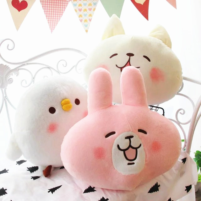 Candice guo! Hot sale plush toy cute kanahei chicken cat rabbit stuffed cushion doll blanket lover Christmas birthday gift 1pc