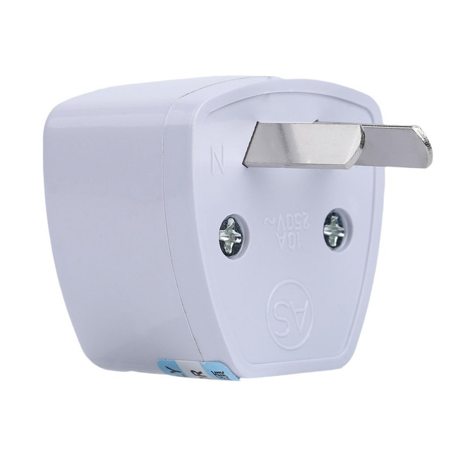 2 Pins Universal Outdoor Travel Au Adapter Converter Plug For Australia New Zealand 250v Max 5a White
