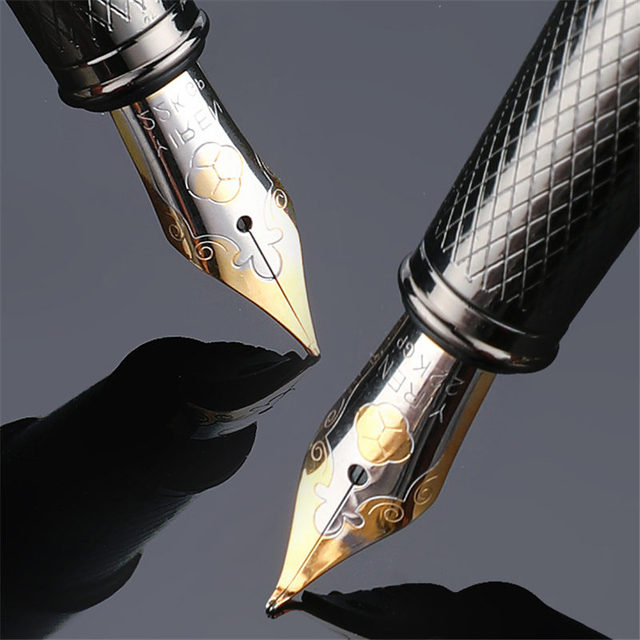 1PC High Quality Fountain Pen Luxury Business Writing Signing Calligraphy Ink Nib Pens Gift Box Office Stationary Supplies 03924 3