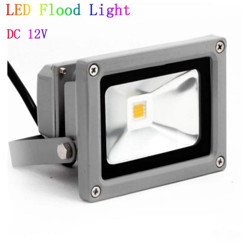 12V DC 10W 20W 30W 50W LED Flood Light Waterproof floodlight Outdoor 12V Lights IP65 red blue green yellow warnwhite white