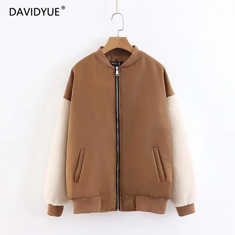 Winter   Basic     jacket   women vintage plus size faux fur coat pacthwork   jacket   Autumn korean fashion streetwear womens   jackets   2018