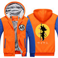 2016 Dragon Ball Animate Hoodie mens Thicken Fleece Zipper Jacket Super Saiyan Goku