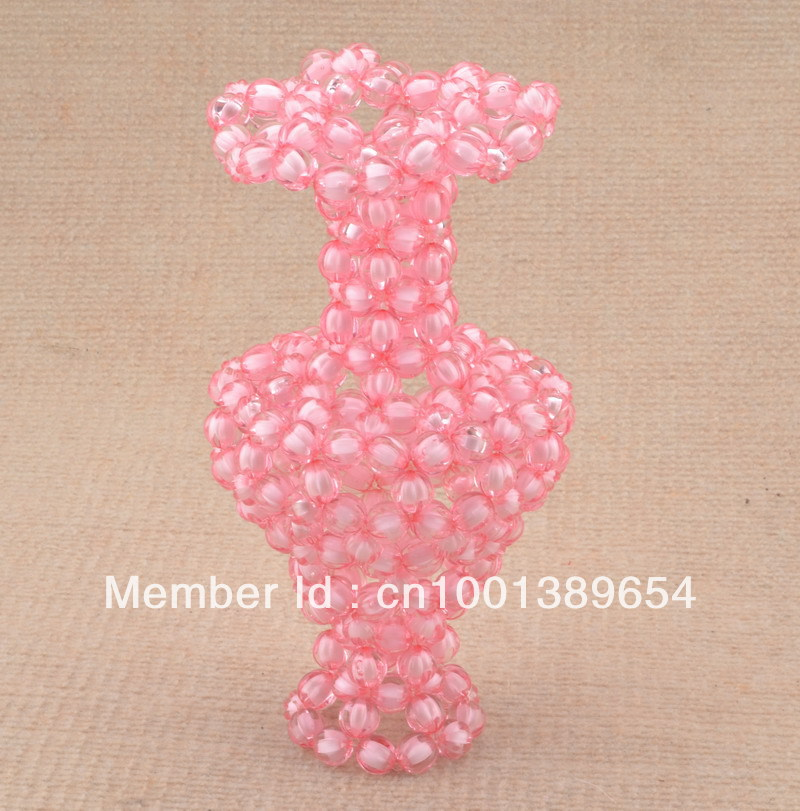 Acrylic Bead Handicraft Family Decorative Vases Acrylic Bead Red