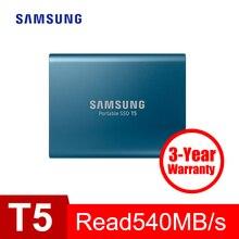 Samsung SSD portátil T5 250 GB 500 GB 1 TB 2 TB externa de estado sólido HD disco duro de 2,5″ USB 3,1 Gen2 (10 Gbps) para el ordenador portátil de escritorio