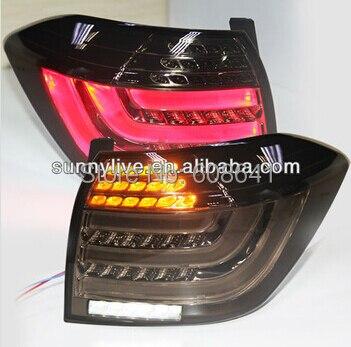 For TOYOTA Kluger Highlander 2012-2013 year LED Back Lamp Smoke Black