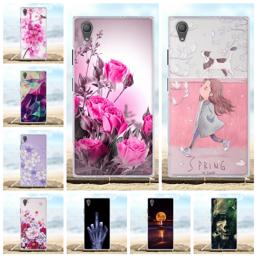 Case Cover For Sony Xperia XA1 Plus Soft TPU Phone Cases 3D Relief Coque For Sony XA1 Plus G3412 G3421 G3423 G3416 5.5 Case Bag image