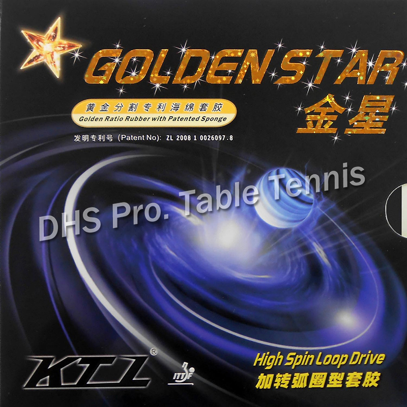 KTL GOLDEN STAR High Spin Loop Drive Pips In Table Tennis Rubber With Sponge For Table Tennis Racket