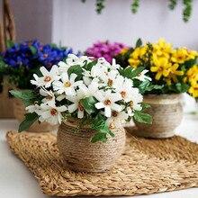 лучшая цена 1pcs Artificial Plant bonsai Fake Plant Decor flower Green Plant Plastic Flower Potted For Home desktop Decoration Flower bonsai