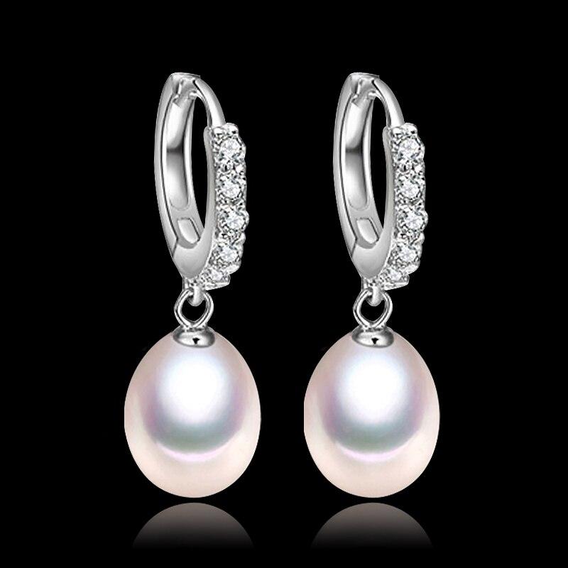 Heiße Populäre Mode kristall und perle ohrringe, 8mm weiß teardrop süßwasser clip...