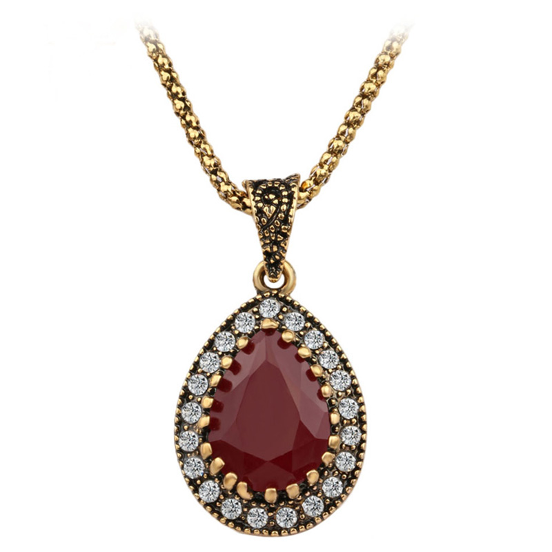 From Indian Love Stone2016 New Vintage Necklace Women Fashion Style Necklaces Pendants Cheap